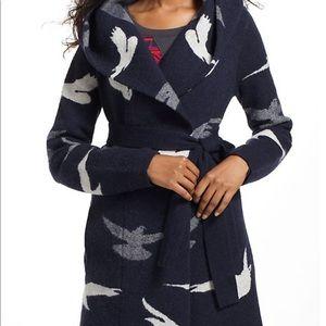 Anthropologie morning birds sweater coat